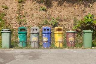 Colorful bins