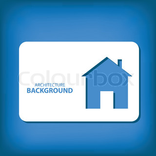 Architectural blue background ready for your text vector