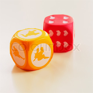 Close up image of dice