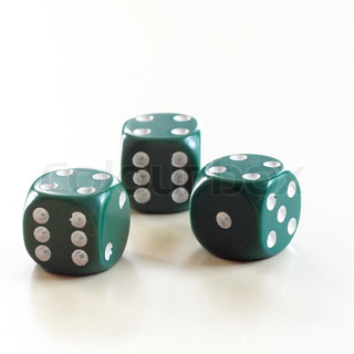 Dice on white surface