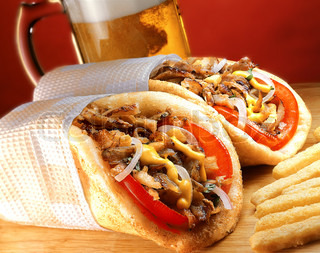 Gyros pita, the traditional Greek fast food.