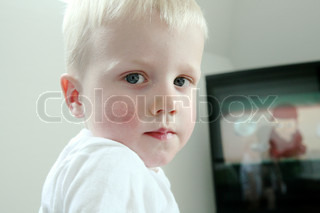 Image of 'child, television, male'