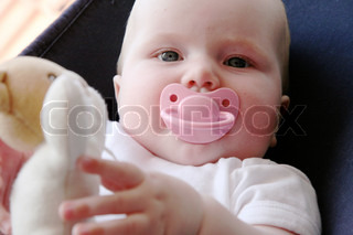 Image of 'baby, girls, pacifier'