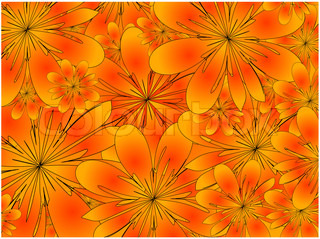 raster. floral background