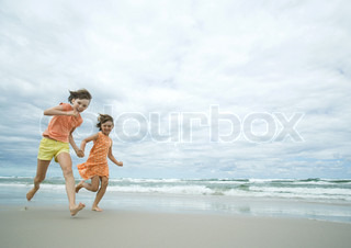 Image of 'kids, playing, beach'
