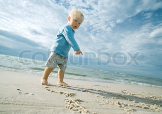 Image of 'child, beach, male'