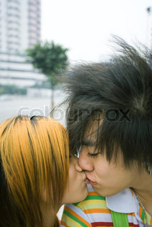 Image of 'japanese, teens, kisses'