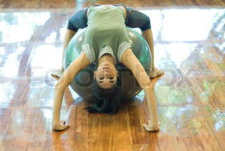 Image of 'urdhva dhanurasana, ball, gymnast'