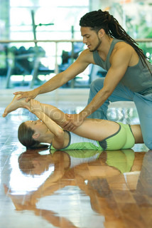 Image of 'man, woman, gym'