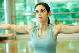 Image of 'brunette, gymnastic, female'