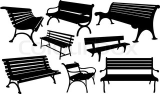 Vector Wooden Bench Vector Colourbox
