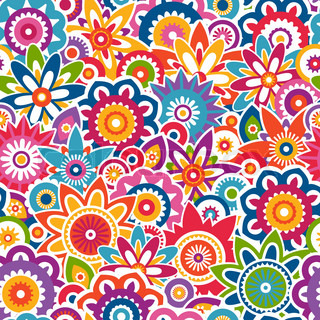 colorful floral background patterns - photo #23