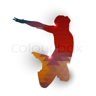 Silhouette of jumping boy