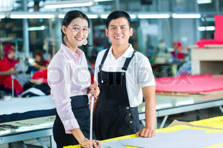production manager and designer in asian factory - Fashion Production Manager