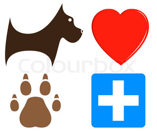 veterinary icons for pet help