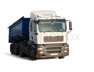truck on white background