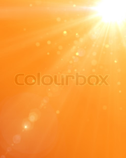 Summer background with a magnificent sun burst