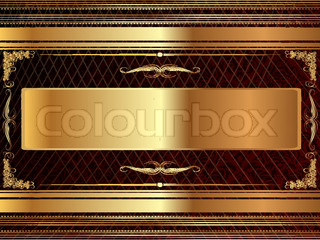 Gold frame with pattern 5