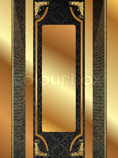 Gold frame with pattern 9