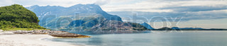 Panoramic view of Norwegian seaside