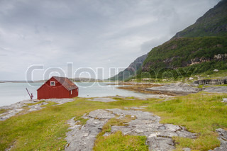 Seaside building in Northern Norway