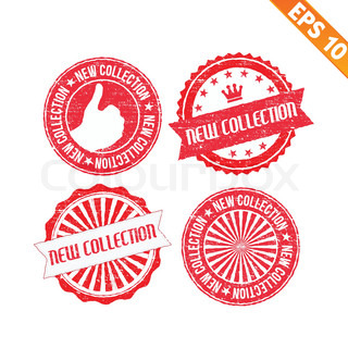 Stamp sticker new collection  - Vector illustration - EPS10