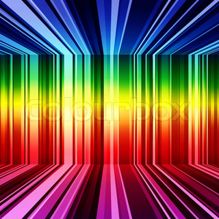 Abstract rainbow warped stripes background