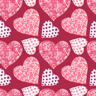 seamless valentine's day background