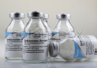 AYTOS, BULGARIA - JANUARY 21, 2014: Cefazolin, also known as cefazoline or cephazolin, is a first-generation cephalosporin antibiotic.