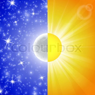 Day and night. Vector illustration