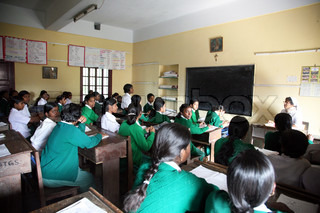 Girls in St. Teresa Girls High School in Basanti, West Bengal, India