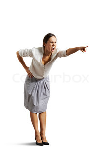 Angry businesswoman screaming | Stock Photo | Colourbox