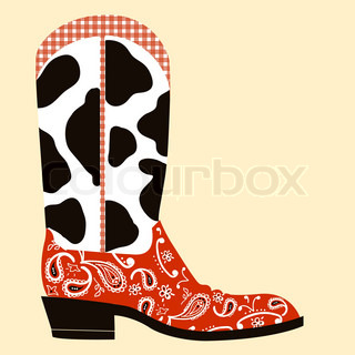Cowboy boot decoration.Western symbol
