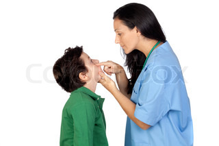 Pediatrician woman making a checkup for child