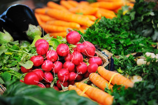 fresh organic vegetables food on market