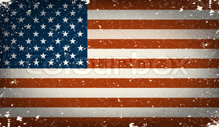 Grunge worn out vector american flag