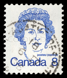 Stamp printed in Canada shows Queen Elizabeth II