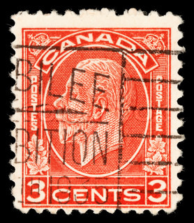 CANADA - CIRCA 1911: stamp printed by Canada, shows King George V, circa 1911