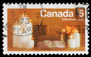 CANADA - CIRCA 1973: A greeting Christmas stamp printed by Canada, circa 1973
