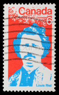 Stamp printed by Canada, shows Louis Riel