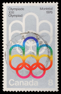 Stamp printed by Canada, shows Montreal Olympic Games