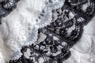 Black and white lace