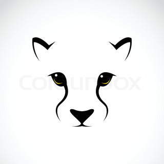Vector image of an cheetah face