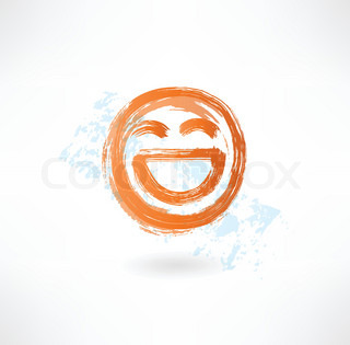 laugh grunge icon