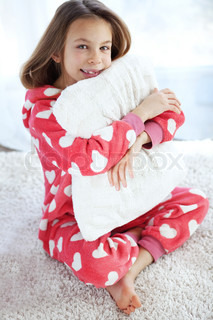 Child in pajamas