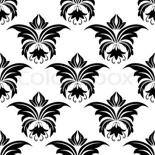 Seamless floral arabesque pattern