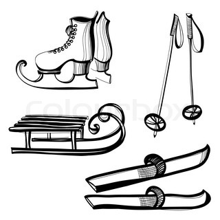 Set of eqipment for outdoor winter sports