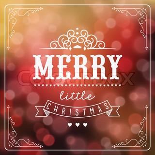 Vintage Christmas Gift Background With Typography
