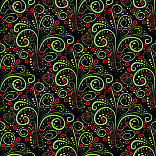Abstract seamless floral curl pattern. Vector illustration