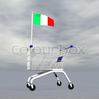 Italian shopping - 3D render